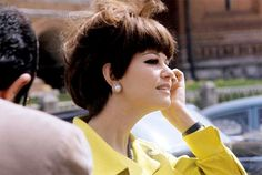 Claudia Cardinale on the Red Square in Moscow. July 1967