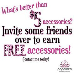 Paparazzi Jewelry and Hair Accessories!! Shop online, host a Facebook party or invite some friends over today! Contact me to find out how!