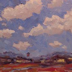 Heidi Malott Original Paintings: Southwest Landscape Water Tower Studio Sale Oil Pa...