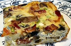 Bacon & Mushroom Bake Shared on https://www.facebook.com/LowCarbZen | #LowCarb #Casserole