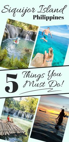 5 Things You Must Do on Siquijor Island in the Philippines! If you're travelling to the Philippines make sure you don't skip the island of Siquijor. Beautiful beachs, waterfalls, cliff jumping, great food, and fun parties await you on one of the best destinations in the Philippines. Guide includes Cambugahay Falls, Lugnason Falls, and Salagdoong Beach. By Wandering Wheatleys (@wanderingwheatleys) #Siquijor #Philippines #Filipino #Island #Beach #Waterfalls #CliffJumping