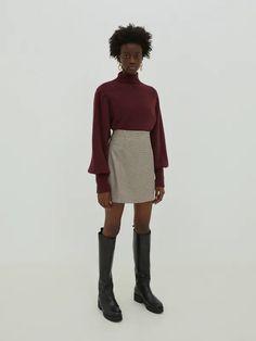 Rock 'Eden' Delicate Wash, Neue Trends, Mini Skirts, High Neck Dress, Hipster, Plaid, Boutique, Zip, Dryer