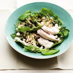 Super Greens Salad with Chicken recipe. For the full recipe and more, click the picture or visit RedOnline.co.uk