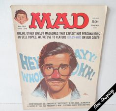 """Vintage 1976 Mad Magazine featuring Henry Winkler aka """"the Fonz"""" on Cover by VintageSistersx2 on Etsy"""