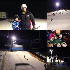 Night skiing and snacks with her daughter. Snowboarding, Skiing, Relax, Daughter, Snacks, Night, Instagram Posts, Snow Board, Ski