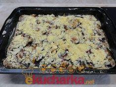 Makový koláč se švestkami Sweet Recipes, Banana Bread, Macaroni And Cheese, Oatmeal, Food And Drink, Fruit, Cooking, Breakfast, Ethnic Recipes