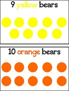 FREE bear counting cards! Great for one-to-one correspondence.