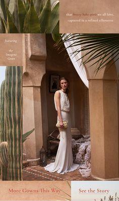 BHLDN | Anthropologie Weddings | Neo Bohohemian | Email Design | Collage