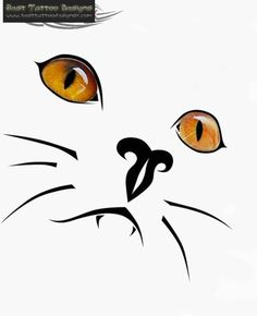 Cat Tattoo - looks like British shorthair eyes! Would like softer lines though