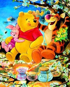 Pooh Bear And Tiger