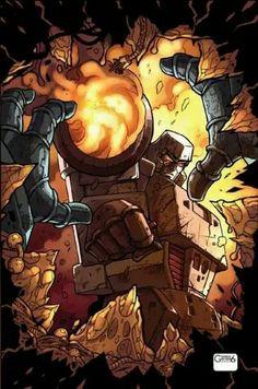 Death by Megatron Transformers Megatron, Movie Characters, Fictional Characters, Master Chief, Nerd, Geek Stuff, Superhero, Comics, Gundam