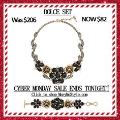 CYBER MONDAY DEAL! Inspired by Rome's breathtaking rose gardens, make an elevated style statement in this glamorous, high-fashion favorite. Sparkling with intricate pavé details, pastel pink + white opal crystals beautifully off-set bold jet-black + antique gold florals with textured leaf accents. A dreamy c+i collectible for your jewelry box, discover the unique nature of this ultra-luxe showstopper. Style Tip: This standout design adds a touch of feminine edge to a pretty pastel top!
