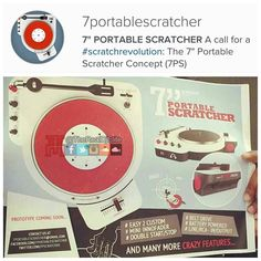 """I'm all for a 7"""" portable #ScratchRevolution. Especially with an #Innofader. #DJ #DJs #turntable #turntablist #turntablism by therealdjelite http://ift.tt/1HNGVsC"""
