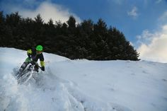 Our latest team recruit J-Flan in a little snow action from the Cairngorms last week #teamgreen #mtb