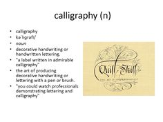 calligraphy meaning #gre #cat #vocabulary