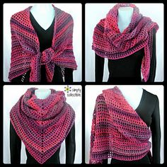 Coraline in the Wine Country Shawl/Wrap. FREE Crochet Pattern