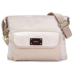 Lovely Beige kipling crossbody bag