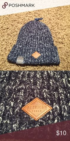 NWT American Eagle beanie Blue and white heather w/ logo on front American Eagle Outfitters Accessories Hats