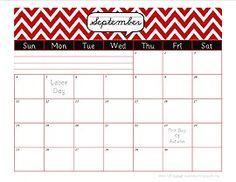 Free Monthly Calendar Printables