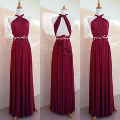 Wedding Dress Maroon Bridesmaid Dress Infinity por Elegantlovers