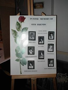 memorial board ideas for class reunions - Google Search