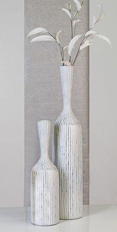 Floor-vase Korfu Poly, Brown/silver