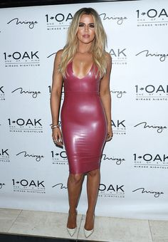 Khloe Kardashian takes the plunge in House of CB latex dress