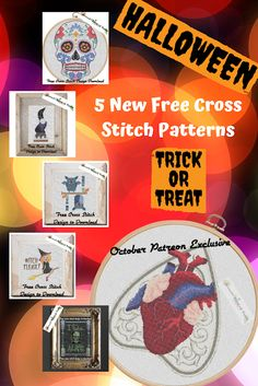 Five New Free Spooky Cross Stitch Designs Coming Next Week PLUS a Creepy Patreon Exclusive! Free Cross Stitch Charts, Cross Stitch Art, Modern Cross Stitch, Cross Stitch Designs, Cross Stitch Patterns, Halloween Cross Stitches, Pattern Design, Crossstitch, Frankenstein