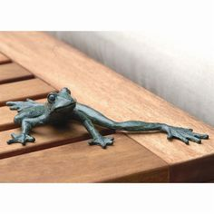 Cute Iron Beach Tropical Frog Long legs Garden Pond Figurine,9.5''W. #Unbranded #Contemporary