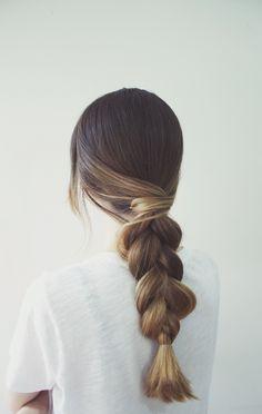 A classic braid with a super simple twist.