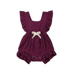 Ruffle Solid Romper Baby Girl Ruffle Solid 11 Color Romper Jumpsuit Outfits Sunsuit for Newborn Infant Children Clothes Kid Clothing Ruffle Romper, Baby Girl Romper, Cute Baby Girl, Baby Girl Newborn, Baby Girls, Ruffle Jumpsuit, Backless Jumpsuit, Baby Bodysuit, Toddler Girls