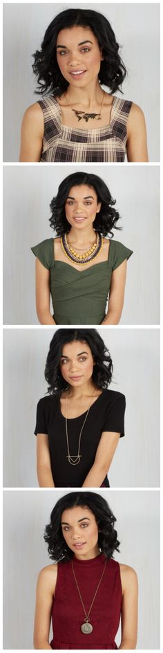 Styling tips for pairing necklaces and necklines!