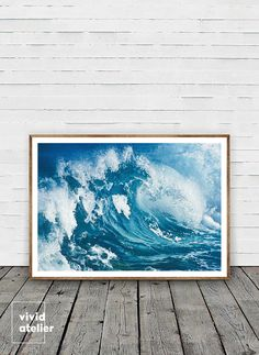 Ocean Wave wall art print is instantly downloadable digital design for any home decor! Grab a printable and print it on your own printer or at your local print shop!  PLEASE NOTE, THIS IS A DIGITAL DOWNLOAD ONLY.  PRINT FILES YOU WILL RECEIVE ✓ 4:5 ratio for printing 4x5 / 8x10 / 16x20 / 40x50cm ✓ 3:4 ratio for printing 6x8 / 9x12 / 12x16 / 18x24 / 30x40cm ✓ 2:3 ratio for printing 8x12 / 20x30 / 10x15cm / 20x30cm / 30x45cm ✓ International paper size for printing A5 / A4 / A3 / A2 ✓ PRINTING…