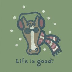 Women's Holiday Horse Long Sleeve Crusher Tee | Life is good... good one for daughter and grand daughters