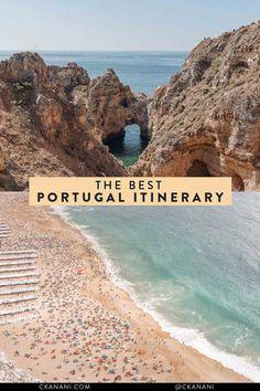 The best Portugal itinerary. See a mixture of the best cities in Portugal and laidback beach towns like Lagos in the Algarve. #portugal #lisbon #lagos #itinerary #smalltowntravel #porto #nazare