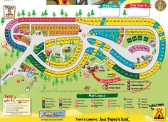 Map Of Santa Cruz Campground In Carpinteria State Beach