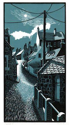 Bryan Angus is raising funds for Carved Light on Kickstarter! An exhibition of lino prints by Bryan Angus at the Dundas Street Gallery, Edinburgh, in October Linolium, Lino Print Artists, Lino Art, Linoprint, Arte Horror, Art Graphique, Wood Engraving, Linocut Prints, Woodblock Print