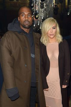 Kim Kardashian at the Lanvin fall 2015 fashion show. See all the other celebrities who have dared to wear naked dresses.