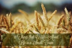 www.theroadwereon.com The Road We're On--A lifestyle blog devoted to reflecting God's presence in our everyday reality. Featuring the 12 things that i miss about life in a small town