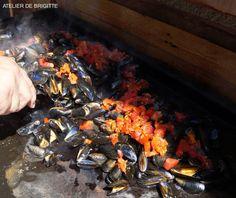 Moules au Chorizo à la Plancha - Atelier de Brigitte (Gironde 33230 COUTRAS, LIBOURNE, SAINT-DENIS de PILE, SAINT-SEURIN/L'ISLE) cuisine, recettes, partages,