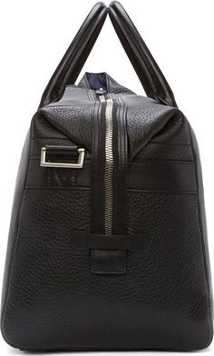 Paul Smith Black Pebbled Leather Holdall Bag