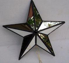 Lg.Mirrored Glass Star Tree Topper Tree Top by Suncatchercreations