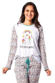 Pijama de Unicórnio Fem. Adulto Inverno