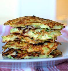 GF LC Bacon and Green onion Zucchini Pancakes
