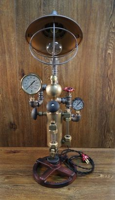 Industrial Machine Age Type Lamp  One-of-a-kind Collector Steampunk Unique