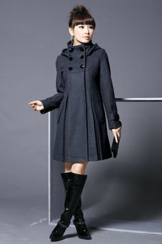 2013 autumn and winter overcoat double breasted woolen outerwear female medium long woolen overcoat wool long pea coats women-inWool & Blend...