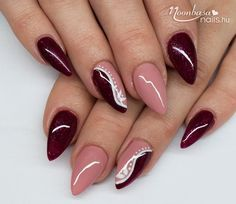 Nails almond french colour 58 Ideas for 2019 Elegant Nails, Classy Nails, Stylish Nails, Trendy Nails, Fabulous Nails, Perfect Nails, Gorgeous Nails, Classy Nail Designs, Nail Art Designs