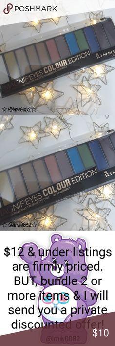 Rimmel London Magnif'eyes Vibrant Color palette Glimmer and matte shades Vibrant colors rimmel London Makeup Eyeshadow