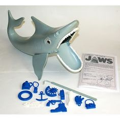 The nice thing about hand-me-downs... I had cool 70's AND 80's toys.... like this JAWS Game.