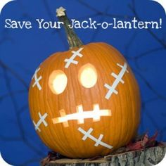 how to preserve your jack-o-lantern...might give it a shot, but another website said it didn't work. Worth a shot, I guess?